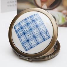 Ceramic Portable Makeup Mirror - Ancient Copper Cash Style