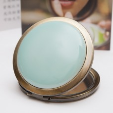 Ceramic Portable Makeup Mirror - Plain Style
