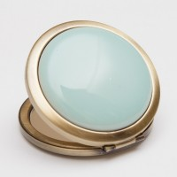 Ceramic Portable Makeup Mirror - Medium Pocket Watch Style (6 cm)