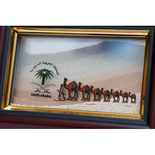 sand frame with natural color of sands from different places