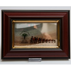 Sand Frame - with Natural Color of Sands from Different Places