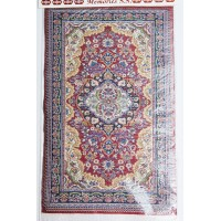 Woven Miniature Carpet - Purplish Red