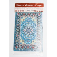 Woven Miniature Carpet - Blue