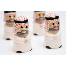 Ceramic Sculpture - Arabian Style, Male with Shemagh