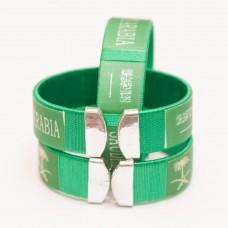 Green Bracelet with Saudi Elements