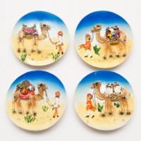 Disk camel magnet - for Fridge, Middle East Style