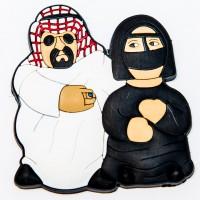 Arabia couple rubber magnet