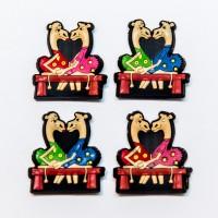 Camel couple rubber magnet